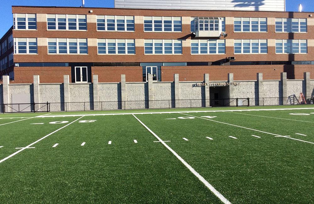 Newburyport High School Stadium Wall